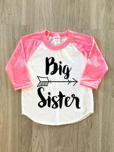 Big Sister Arrow Raglan  baby girl clothes by 8thWonderOutfitters