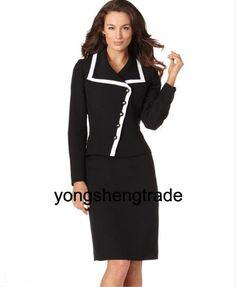 2016 Novas Mulheres Terno Formal Blazer com Saia para o Office ...