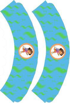 Dora The Explorer, Dora, cupcake liners for Julia's second birthday! Cupcake Liners, Cupcake Wrappers, Dora The Explorer, Cut Out Top, A4 Paper, Vinyl Designs, Party Printables, Scissors, Birthdays