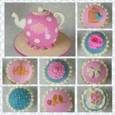 A sweet two-year-old's tea party birthday! #teaparty #100percentedible #debbiescustomcreations