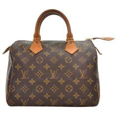 Louis Vuitton Vintage Canvas Speedy 25 City Bag ($795) ❤ liked on Polyvore featuring bags, handbags, purses, bolsas, accessories, vintage purses, monogrammed purses, man travel bag, brown purse and vintage handbags