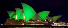Sydney Opera House Green for St. Patrick's Day