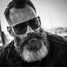From full to neatly trimmed goatees, discover the top 60 best awesome beards for men. Explore cool masculine facial hair ideas and styles. Badass Beard, Epic Beard, Men Beard, Grey Beards, Long Beards, Beard Styles For Men, Hair And Beard Styles, Bart Tattoo, Barba Sexy