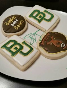 This Etsy seller can make and ship you a dozen of these Baylor cookies!