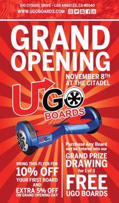 Grand opening: 8th November.