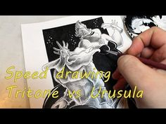 Tritone vs ursula speed drawing - YouTube