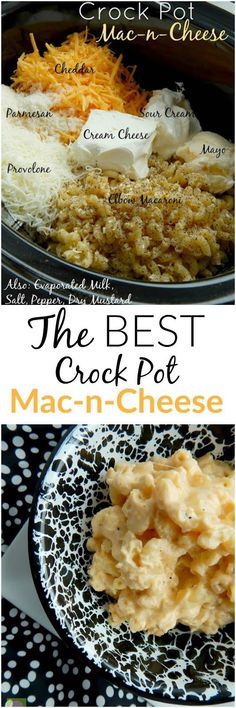 The BEST Crock Pot Mac-n-Cheese around! Creamy, smooth, cheesy...a definite crowd pleaser.(sweetandsavoryfood.com)