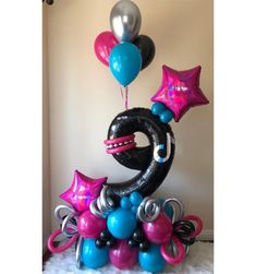 Party Ballons, Balloon Decorations Party, Birthday Party Decorations, 12th Birthday Party Ideas, Birthday Parties, Balloon Columns, Balloon Garland, Ballon Crafts, Balloon Arrangements