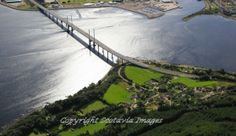 Kessock Bridge by Inverness.Aerial photograph Scotland.Prints 18x12 £25 24x16 £35 same size on canvas ready to hang £60. Order via website www.scotaviaimage...