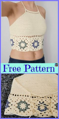 Crochet Summertop - Most Beautiful Crochet Crop Top Free Patterns freeecrochetpatterns clothes top Crochet Girls, Crochet Woman, Cute Crochet, Beautiful Crochet, Easy Crochet, Crochet Lace, Rainbow Crochet, Crochet Wedding, Crochet Summer Tops