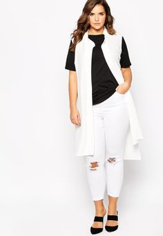 The new sleeveless vest jacket collar long 8-22 free shipping | Allbuy.com