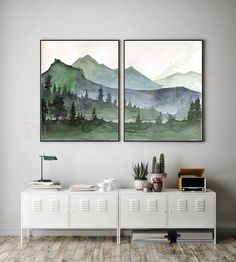 Nature Prints Mountains Wall Art Landscape Painting Evergreen Trees Forest Mountains Watercolor Trees Mountain Print Landscape Set Of 2 Nature Prints Mountains Wall Art Landscape Painting Evergreen Trees Forest Mountains Watercolor Tree Landscape Prints, Landscape Paintings, Tree Paintings, Landscape Art, Watercolor Trees, Mountains Watercolor, Triptych Wall Art, Tree Wall Art, Reclaimed Wood Wall Art
