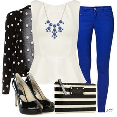 """""""Stripes & Dots"""" by coombsie24 on Polyvore"""