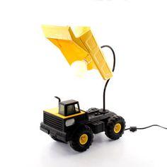 Dog Tag Designs: Yellow Truck Lamp