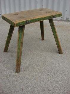 French Antique Milking Stool Antique Foot Stool Antique Furniture
