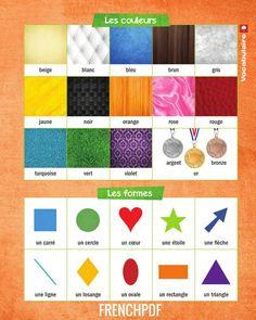 Le français en image. Les couleurs et les formes.   http://www.frenchpdf.com/2017/04/couleurs-formes.html