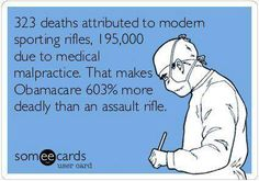 Obamacare is 603% more deadly than an assault rifle.