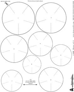Pattern for Burnt edge roses. DIY Mother's Day Fabric Flowers. This Circle Template is designed for printing out on card stock & then tracing onto synthetic fabric like satin, organza or chiffon. For more information on the webshow & the step by steps go to my blog: www.rhonnadesigns.blogspot.com PERSONAL USE ONLY...