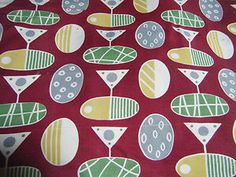 Vintage 1950s classic pattern fabric