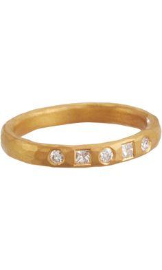 Malcolm Betts Square & Brilliant Cut Diamond Ring