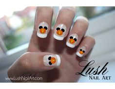 Halloween Mickey Head Glowing Pumpkin Disney Nail Art Water Transfer Decal - Waterslide Paper - Water Slide Paper