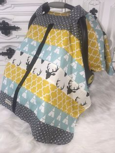 Car Seat Cover STUNNING patchwork / nursing cover by CoveredNLove1