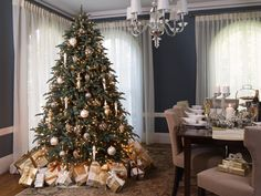Napa Christmas™ Signature Collection | BH Noble Fir | Balsam Hill | Winter White Theme | Christmas Tree | Holiday Entertaining