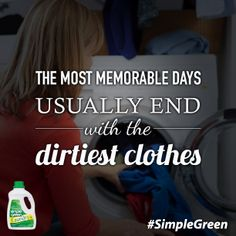 Clean up after your memorable days with #SimpleGreen Sunshine Fresh Laundry Detergent. Buy it now at The Home Depot and save $1.00!