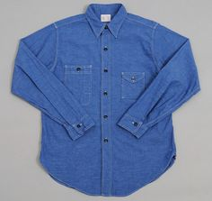 "BIG YANK: 1930s ""CP"" Shirt, Indigo Chambray"