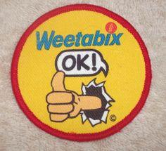 Vintage Patch * WEETABIX * Retro Fun Advertising Animation 1980s