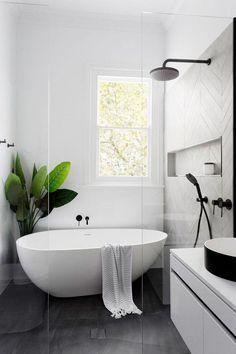 Modern Bathroom Design, Bathroom Interior Design, Minimal Bathroom, Simple Bathroom, Contemporary Bathrooms, Modern Interior, Kitchen Design, Colorful Bathroom, Modern Contemporary