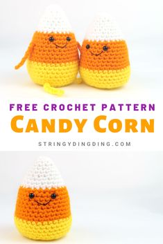 Crochet some candy corn amigurumis with this free crochet pattern. Visit our site to make it now! Make a super cute and easy candy corn amigurumi with this free crochet pattern! Visit our site now to make it. Thanksgiving Crochet, Crochet Fall, Holiday Crochet, Crochet Gifts, Cute Crochet, Crochet Hooks, Knit Crochet, Booties Crochet, Crochet Pour Halloween