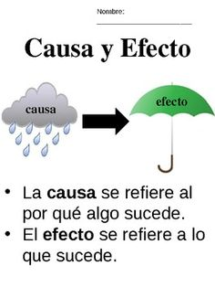 Causa y Efecto - Cause & Effect - Spanish - Bilingual/Dual-Language