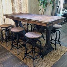 Rustic Pub Table Set #DiningTable