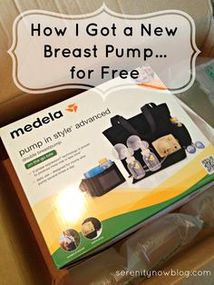 Tip for new moms! How I Got A New Breast Pump for Free, from Serenity Now
