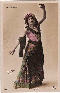 "Folies Bergere Stage Performer ""Darson"" by Sartony Original French Postcard | eBay"
