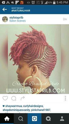 braid hairstyles bridesmaid Half Up - Crochet Braid Styles Unique Braids, Beautiful Braids, Black Girl Braids, Girls Braids, My Hairstyle, Afro Hairstyles, Fancy Hairstyles, Hairstyle Ideas, Hair Ideas