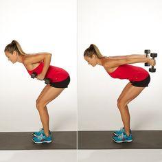 Triceps Kickbacks- Circuit 2- 3 sets of 10 reps week 5 and 3 sets of 11 week 6