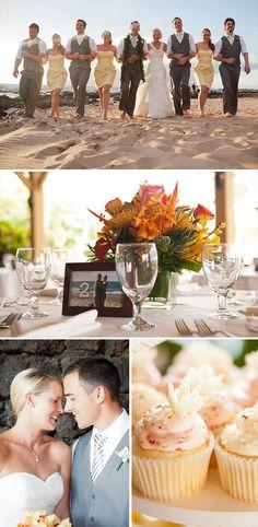 Real Weddings: Rondi & Aaron at Five Palms Beach Grill, on Keawakapu Beach in Maui, Hawaii.