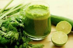 Lime cucumber parsley juice.