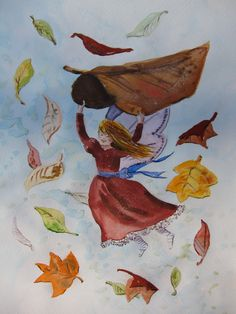 Autumn Leaves Moss Art, Fairy Houses, Autumn Leaves, Watercolor, Fairies, Homes, Painting, Pictures, Fall Leaves
