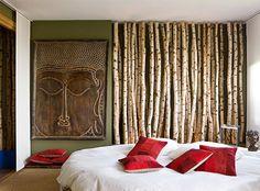 Window Display ideas: Birch Poles & Branches in interiors : Green Decor & Design Birch Branches, Birch Trees, Birch Logs, Birch Bark, Interior And Exterior, Interior Design, Diy Home, Decorating Your Home, Sweet Home
