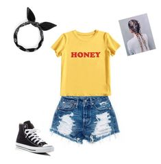 """Summer Outfit"" by sunshinelover26 on Polyvore featuring MIEL and Converse"
