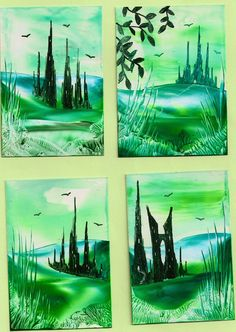 some of my encaustic art paintings Hobbies And Crafts, Crafts To Make, Arts And Crafts, Wax Art, Encaustic Painting, Acrylic Pouring, Art Techniques, Art Paintings, Color Splash