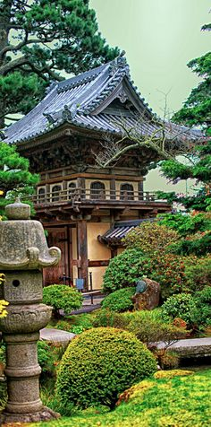 The Japanese Tea Garden in Golden Gate Park ~ San Francisco, California photo: Brenda Addington on The Graceful Gardener. Beautiful World, Beautiful Gardens, Beautiful Places, Okinawa, Japan Kultur, The Places Youll Go, Places To Go, Parks, Golden Gate Park