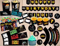 Star Wars Kit Birthday Party Package DIY Set por Anerdo en Etsy