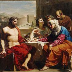 Jupiter,Mercury and Bacchus at Philemon. 18th. or 19th. century. circle of Andrea Appiani. Italian. 1754-1817