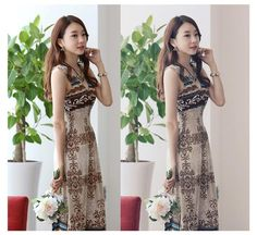 Casual Dresses Online Sale New Fashion Ice Silk Floral V Neck Bohemian Dress Summer Holiday Beach Casual Maxi Dress 4 Sizes A0397 231441986 | Dhgate.Com