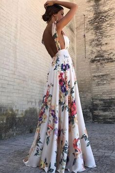 599ee9f350 Fashion 2018 Summer Women Maxi Dress Sexy Deep V-Neck Spaghetti Strap Long  Sundress Boho Floral Print Backless Beach Dresses