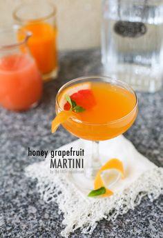 Honey Grapefruit Martini